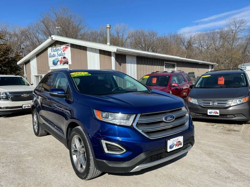 2015 Ford Edge for sale at Victor's Auto Sales Inc. in Indianola IA