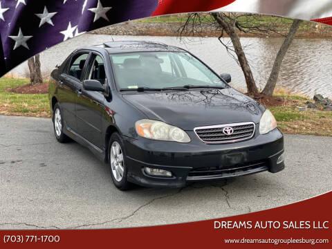 2005 Toyota Corolla for sale at Dreams Auto Sales LLC in Leesburg VA