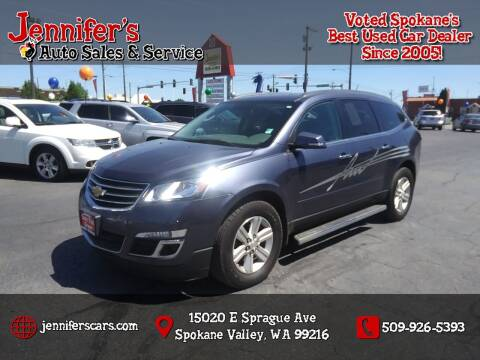 2014 Chevrolet Traverse for sale at Jennifer's Auto Sales in Spokane Valley WA
