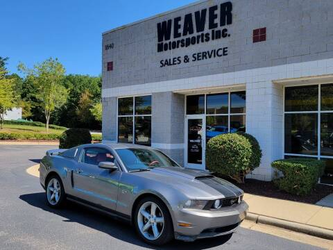 2010 Ford Mustang for sale at Weaver Motorsports Inc in Cary NC