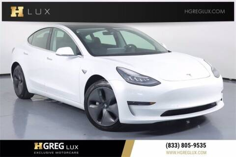 2020 Tesla Model 3 for sale at HGREG LUX EXCLUSIVE MOTORCARS in Pompano Beach FL