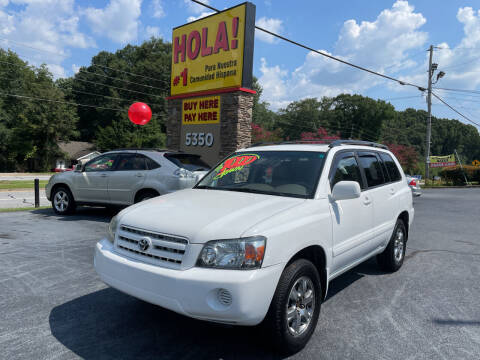 2006 Toyota Highlander for sale at No Full Coverage Auto Sales in Austell GA