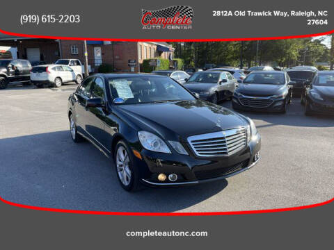 2010 Mercedes-Benz E-Class for sale at Complete Auto Center , Inc in Raleigh NC