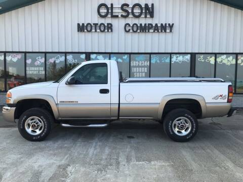 2004 GMC Sierra 2500HD for sale at Olson Motor Company in Morris MN