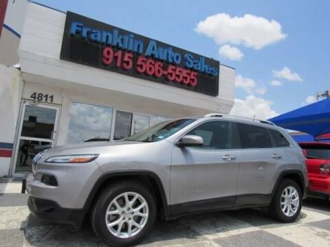 2016 Jeep Cherokee for sale at Franklin Auto Sales in El Paso TX