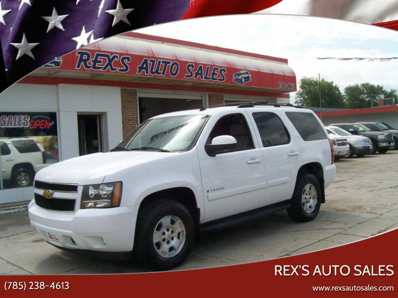 2007 Chevrolet Tahoe for sale at Rex's Auto Sales in Junction City KS