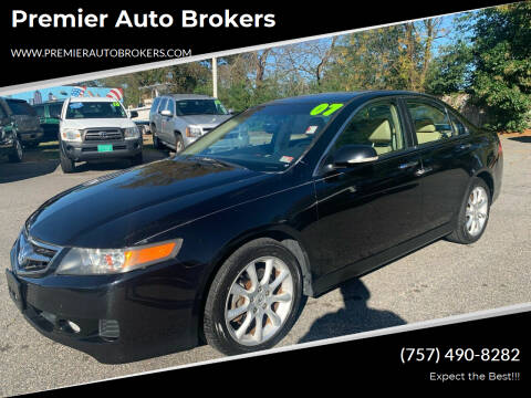 2007 Acura TSX for sale at Premier Auto Brokers in Virginia Beach VA