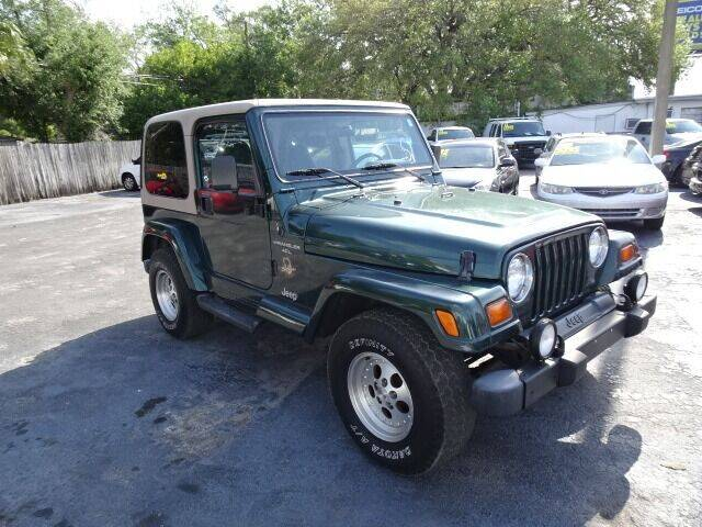 1999 Jeep Wrangler for sale at DONNY MILLS AUTO SALES in Largo FL