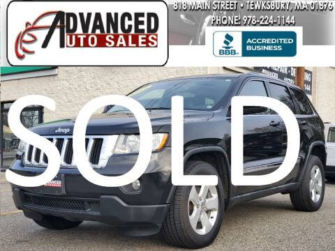 2012 Jeep Grand Cherokee for sale at Advanced Auto Sales in Tewksbury MA