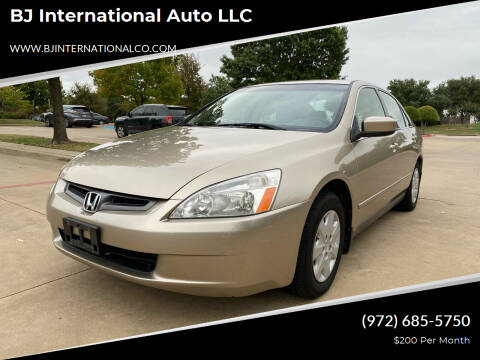2004 Honda Accord for sale at BJ International Auto LLC in Dallas TX
