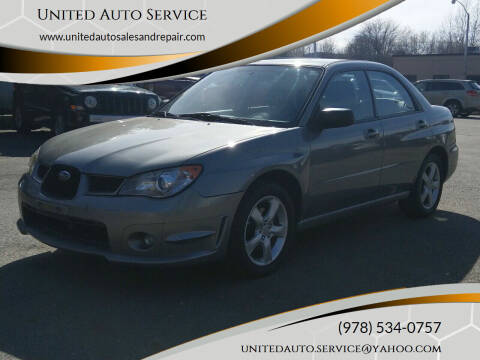 2006 Subaru Impreza for sale at United Auto Service in Leominster MA