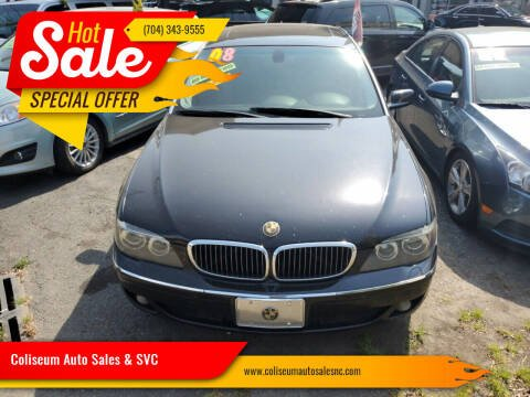 2008 BMW 7 Series for sale at Coliseum Auto Sales & SVC in Charlotte NC