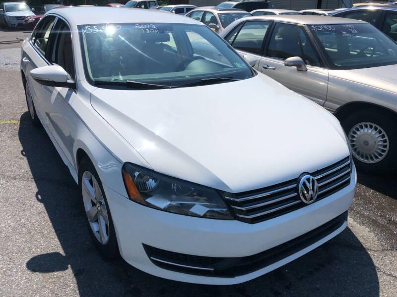 2012 Volkswagen Passat for sale at Matt-N-Az Auto Sales in Allentown PA