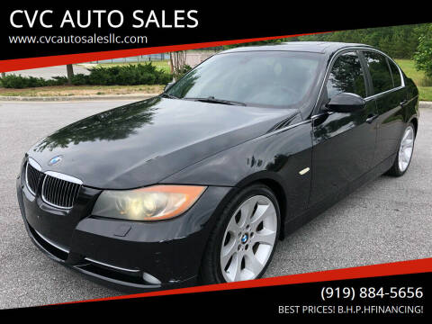 2007 BMW 3 Series for sale at CVC AUTO SALES in Durham NC