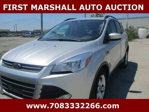 2016 Ford Escape for sale at First Marshall Auto Auction in Harvey IL
