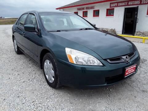 2003 Honda Accord for sale at Sarpy County Motors in Springfield NE