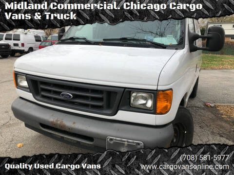 2007 Ford E-Series Cargo for sale at Midland Commercial. Chicago Cargo Vans & Truck in Bridgeview IL