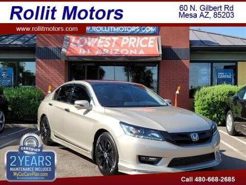 2015 Honda Accord for sale at Rollit Motors in Mesa AZ