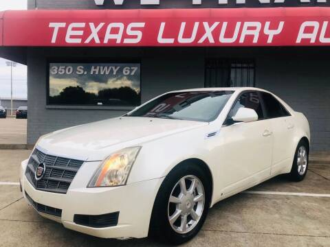 2008 Cadillac CTS for sale at Texas Luxury Auto in Cedar Hill TX