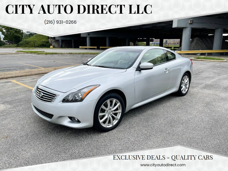 2015 Infiniti Q60 Coupe for sale at City Auto Direct LLC in Cleveland OH