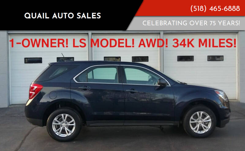 2017 Chevrolet Equinox for sale at Quail Auto Sales in Albany NY