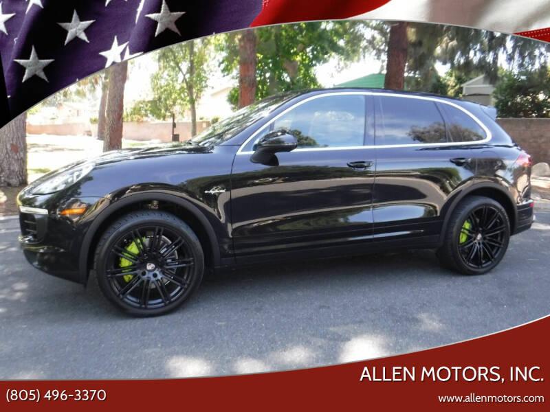 2016 Porsche Cayenne for sale at Allen Motors, Inc. in Thousand Oaks CA