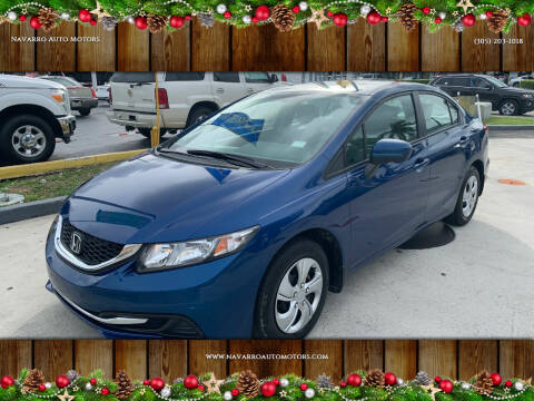 2015 Honda Civic for sale at Navarro Auto Motors in Hialeah FL
