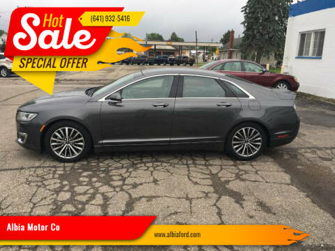 2019 Lincoln MKZ for sale at Albia Motor Co in Albia IA