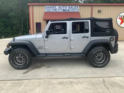 2016 Jeep Wrangler Unlimited for sale at Daniel Used Auto Sales in Dallas GA