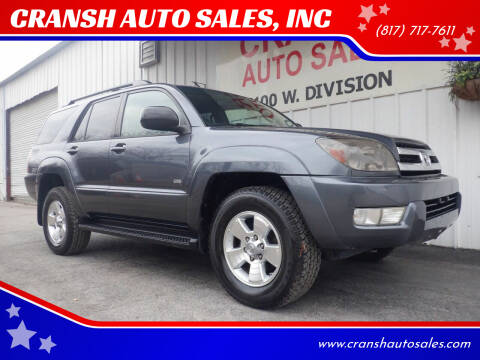 2005 Toyota 4Runner for sale at CRANSH AUTO SALES, INC in Arlington TX