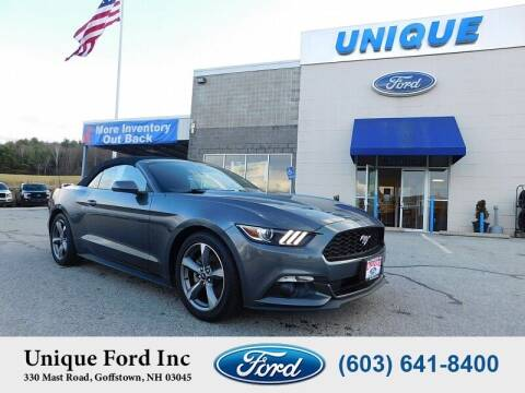 2015 Ford Mustang for sale at Unique Motors of Chicopee - Unique Ford in Goffstown NH