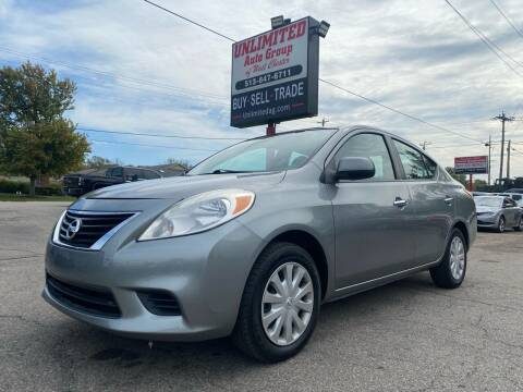 2012 Nissan Versa for sale at Unlimited Auto Group in West Chester OH
