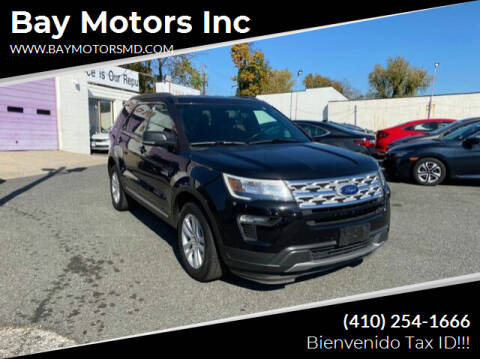 2019 Ford Explorer for sale at Bay Motors Inc in Baltimore MD