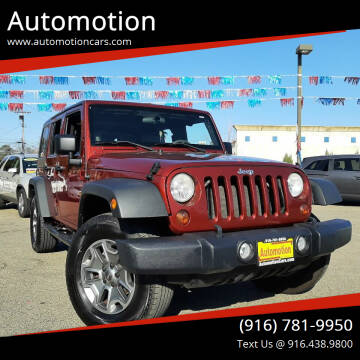 2010 Jeep Wrangler Unlimited for sale at Automotion in Roseville CA