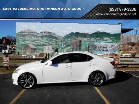 2008 Lexus IS 250 for sale at EAST VALDESE MOTORS / VINSON AUTO GROUP in Valdese NC