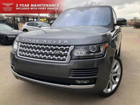 2016 Land Rover Range Rover for sale at European Motors Inc in Plano TX
