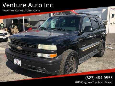 2003 Chevrolet Tahoe for sale at Venture Auto Inc in South Gate CA