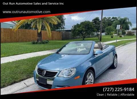 2008 Volkswagen Eos for sale at Out Run Automotive Sales and Service Inc in Tampa FL