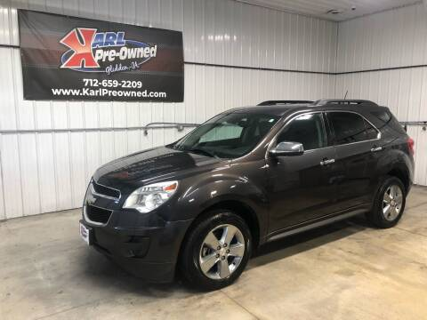 2013 Chevrolet Equinox for sale at Karl Pre-Owned in Glidden IA