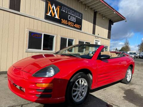 2001 Mitsubishi Eclipse Spyder for sale at M & A Affordable Cars in Vancouver WA