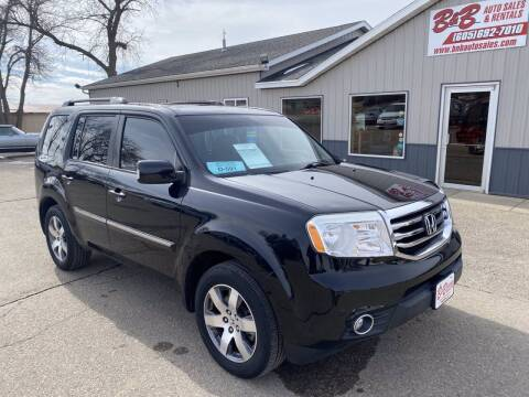 2013 Honda Pilot for sale at B & B Auto Sales in Brookings SD