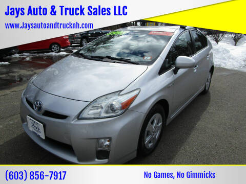 2011 Toyota Prius for sale at Jays Auto & Truck Sales LLC in Loudon NH