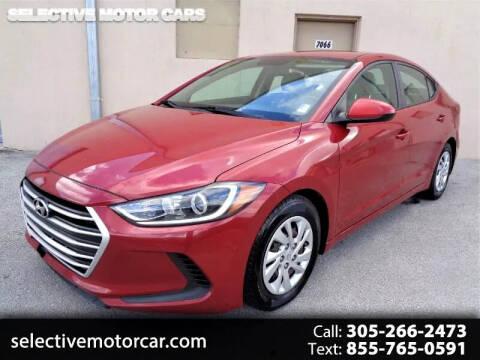 2017 Hyundai Elantra for sale at Selective Motor Cars in Miami FL