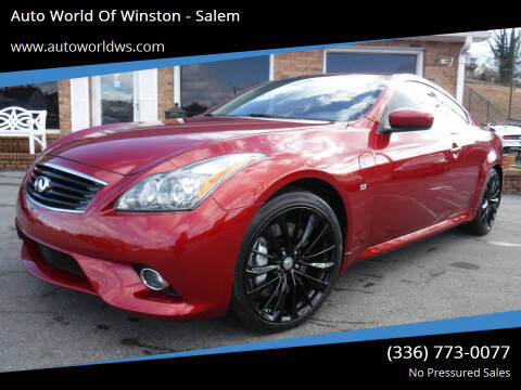 2014 Infiniti Q60 Coupe for sale at Auto World Of Winston - Salem in Winston Salem NC