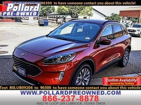 2020 Ford Escape for sale at South Plains Autoplex by RANDY BUCHANAN in Lubbock TX