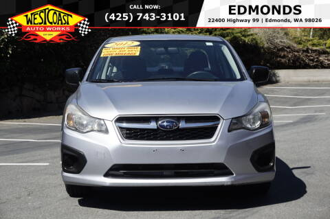 2012 Subaru Impreza for sale at West Coast Auto Works in Edmonds WA