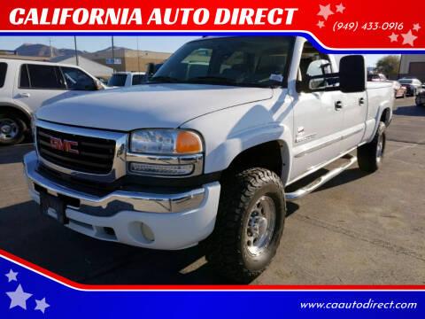 2005 GMC Sierra 2500HD for sale at CALIFORNIA AUTO DIRECT in Costa Mesa CA