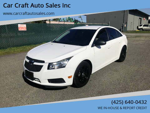 2014 Chevrolet Cruze for sale at Car Craft Auto Sales Inc in Lynnwood WA