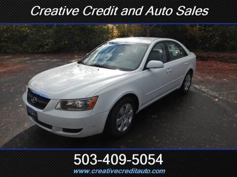 2007 Hyundai Sonata for sale at Creative Credit & Auto Sales in Salem OR