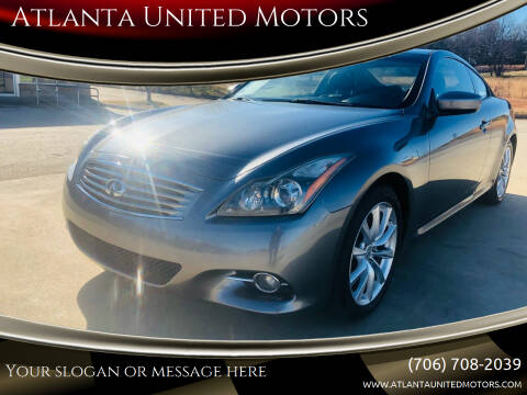 2011 Infiniti G37 Coupe for sale at Atlanta United Motors in Jefferson GA